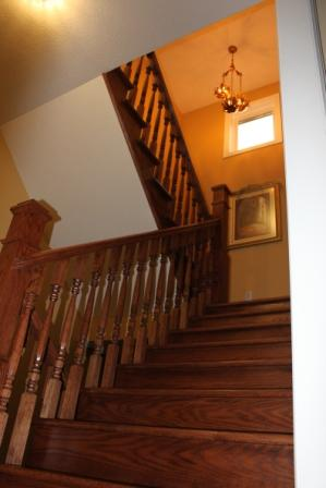 custom stair details non carpeted